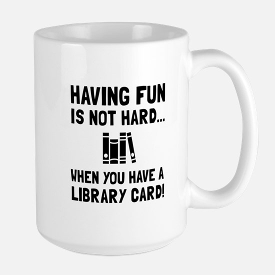 Library Card Fun Mugs