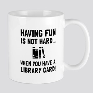 Library Card Fun Mugs