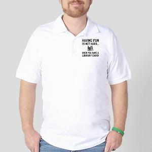 Library Card Fun Golf Shirt