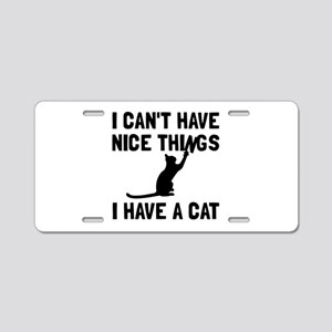 Nice Things Cat Aluminum License Plate