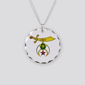 Shriner Necklace Circle Charm