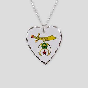 Shriner Necklace Heart Charm