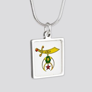 Shriner Silver Square Necklace Necklaces