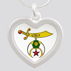 Shriner Silver Heart Necklace Necklaces