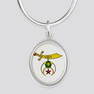 Shriner Silver Oval Necklace Necklaces