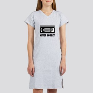 VCR Tape Never Forget Women's Nightshirt