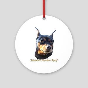 Min Pins Rock Ornament (Round)