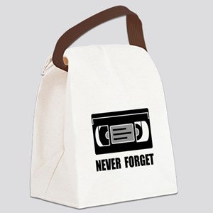 VCR Tape Never Forget Canvas Lunch Bag