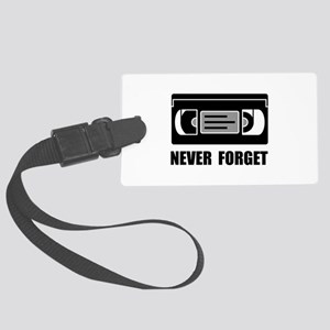 VCR Tape Never Forget Luggage Tag