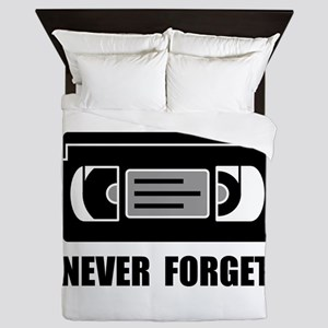 VCR Tape Never Forget Queen Duvet