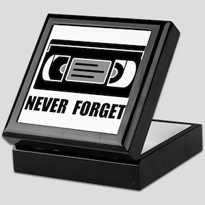 VCR Tape Never Forget Keepsake Box