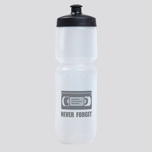 VCR Tape Never Forget Sports Bottle