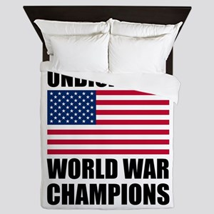 World War Champions Queen Duvet