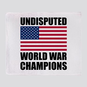 World War Champions Throw Blanket