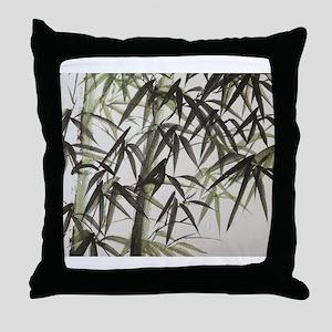 Humble Bamboo Throw Pillow