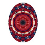 Bonnie Vent's MJ Tribute Mandala Ornament (Oval)