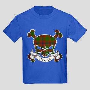Skene Tartan Skull Kids Dark T-Shirt