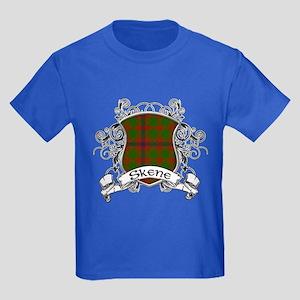 Skene Tartan Shield Kids Dark T-Shirt