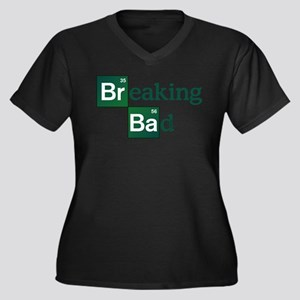 Breaking Bad Women's Plus Size V-Neck Dark T-Shirt