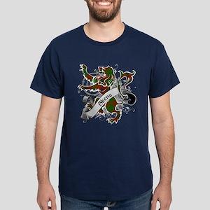 Skene Tartan Lion Dark T-Shirt