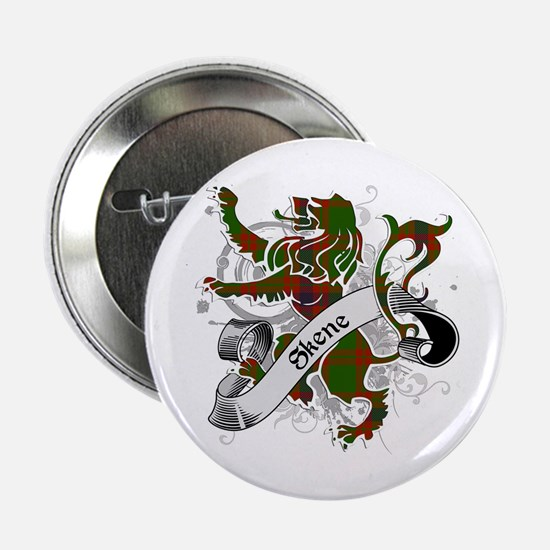 "Skene Tartan Lion 2.25"" Button"