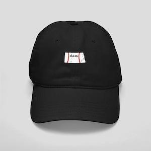 Teeball Mom Shirt North Dakot Black Cap with Patch