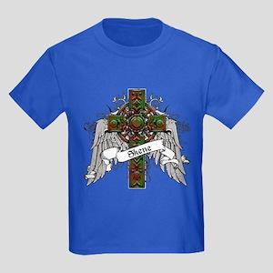 Skene Tartan Cross Kids Dark T-Shirt