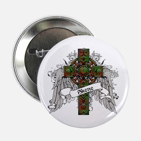 "Skene Tartan Cross 2.25"" Button"