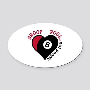 Shoot Pool Oval Car Magnet