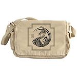 Crescent Dragon Messenger Bag