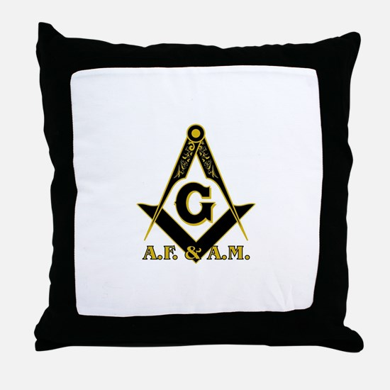 Unique Freemason Throw Pillow