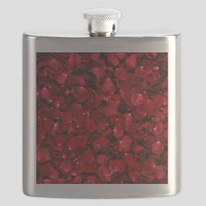 modern romantic red rose petals Flask