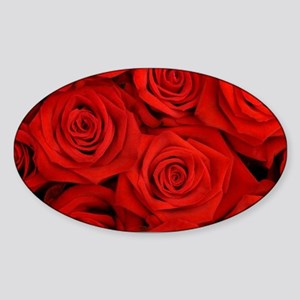 modern romantic red rose petals Sticker