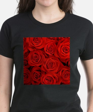 modern romantic red rose petals T-Shirt