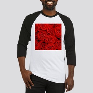 modern romantic red rose petals Baseball Jersey