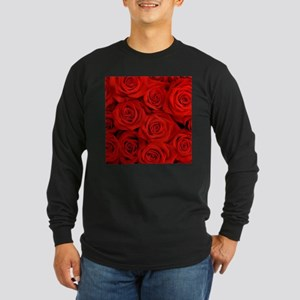modern romantic red rose petals Long Sleeve T-Shir
