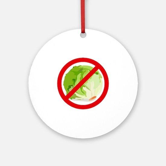 No Lettuce Ornament (Round)