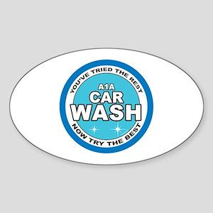 A1 Car Wash Sticker (Oval)
