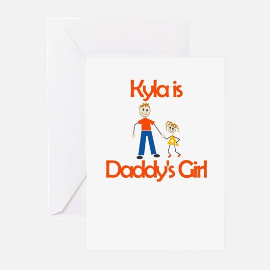 Kyla is Daddy's Girl Greeting Cards (Pk of 10)