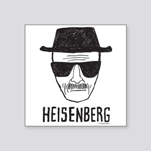 "Heisenberg Square Sticker 3"" x 3"""