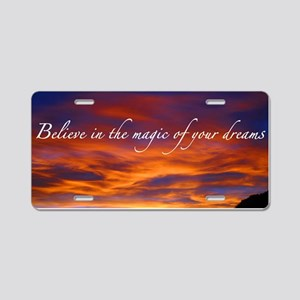 Believe Aluminum License Plate