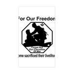 Those who sacrificed Sticker (Rectangle)