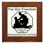 Those who sacrificed Framed Tile