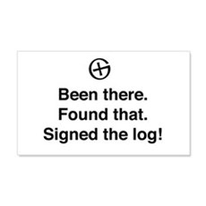 Been there found that log Wall Decal