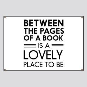 Between pages of book Banner