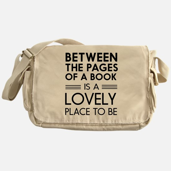 Between pages of book Messenger Bag
