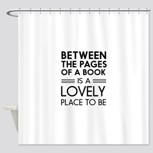 Between pages of book Shower Curtain