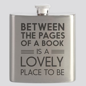 Between pages of book Flask