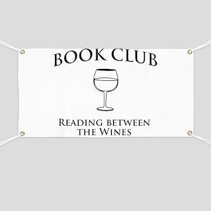 Book club read between wines Banner