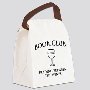 Book club read between wines Canvas Lunch Bag